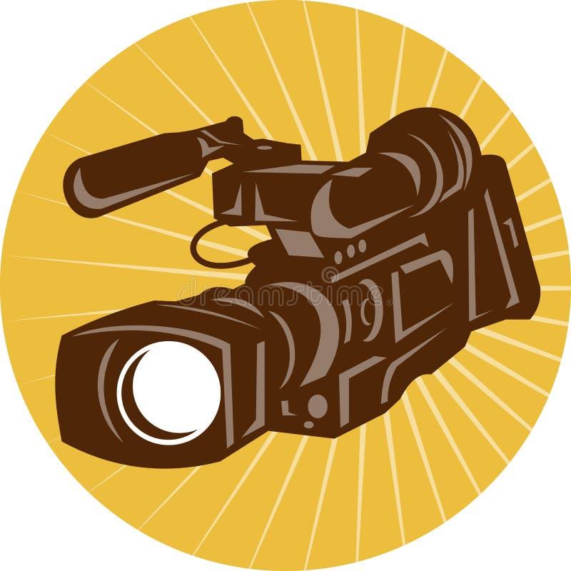 Câmara de vídeo profissional da câmara de vídeo retro ilustração stock