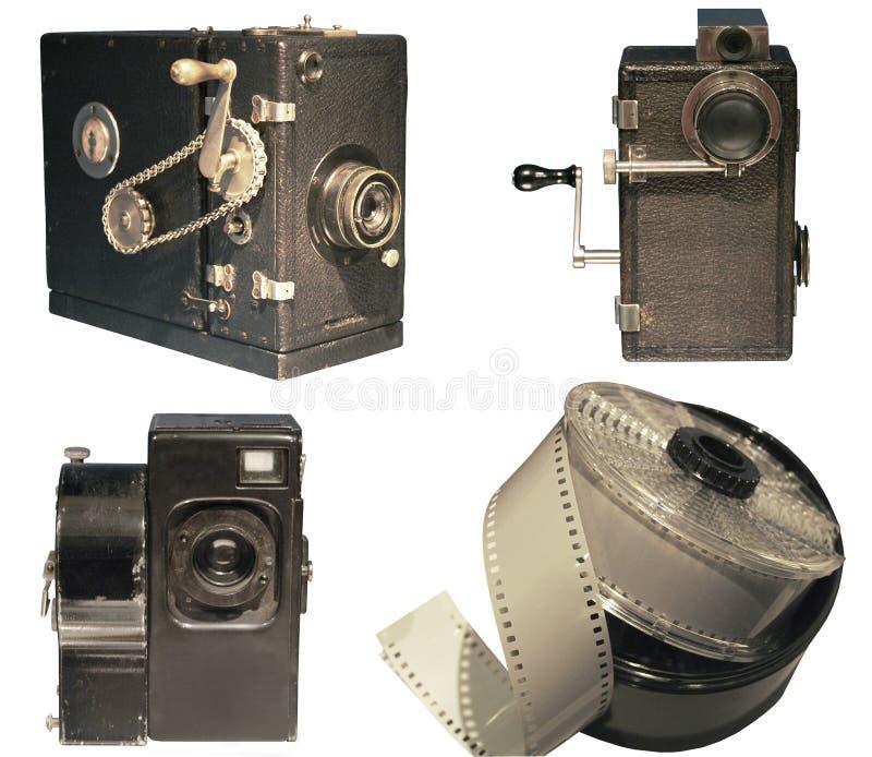 Câmara de vídeo velha fotografia de stock royalty free