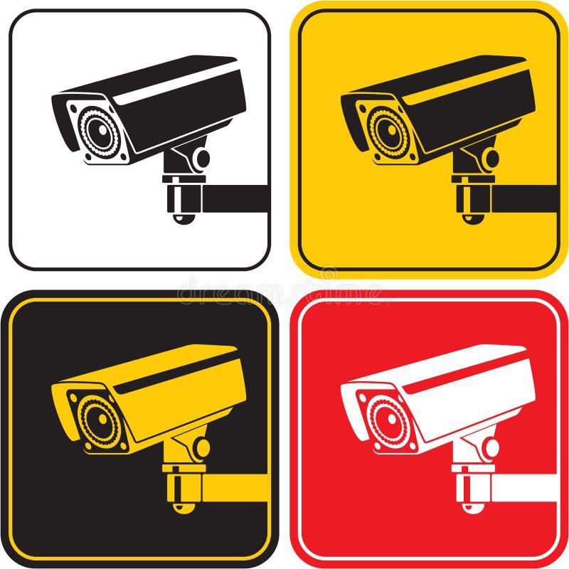Câmara de vigilância ilustração royalty free