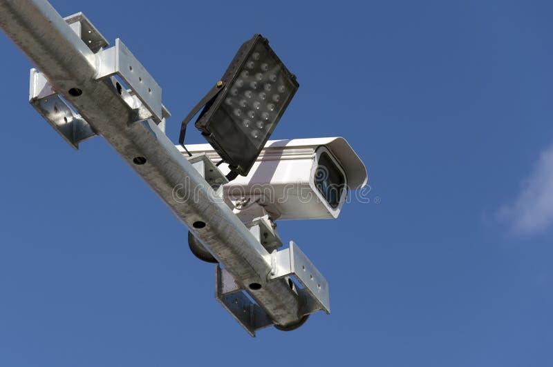 Câmara de vigilância do tráfego rodoviário fotografia de stock royalty free