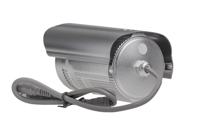 Câmara de vigilância externo da segurança com parte traseira do diodo emissor de luz da visão noturna fotos de stock