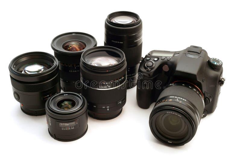 Câmara digital permutável da lente fotos de stock royalty free