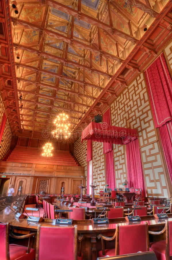 Câmara do Conselho fotografia de stock royalty free
