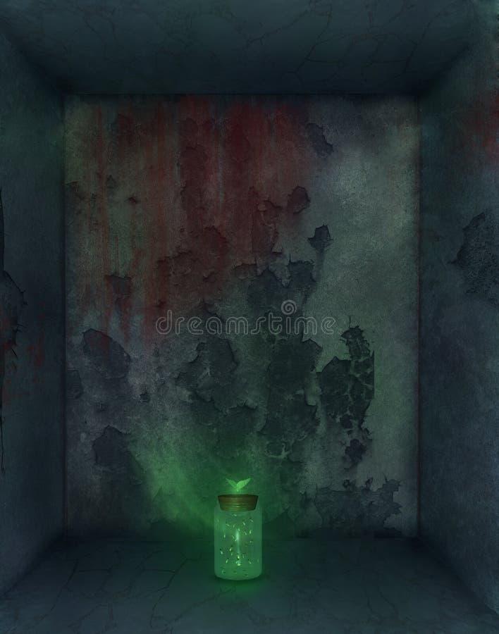 Câmara escura ilustração royalty free