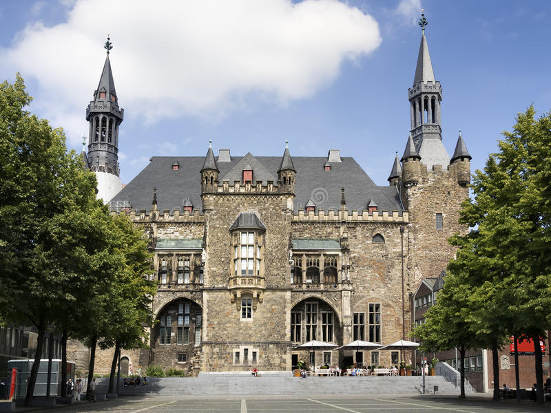 Câmara municipal Aix-la-Chapelle imagem de stock