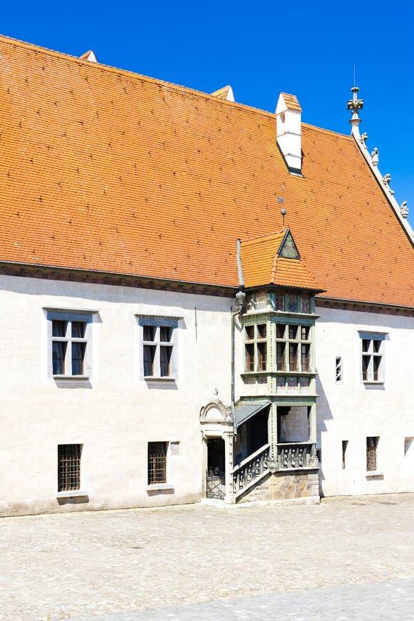câmara municipal, Bardejov, Eslováquia imagens de stock royalty free