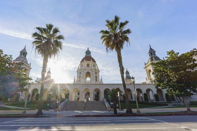 A câmara municipal bonita de Pasadena, Los Angeles, Califórnia imagem de stock royalty free