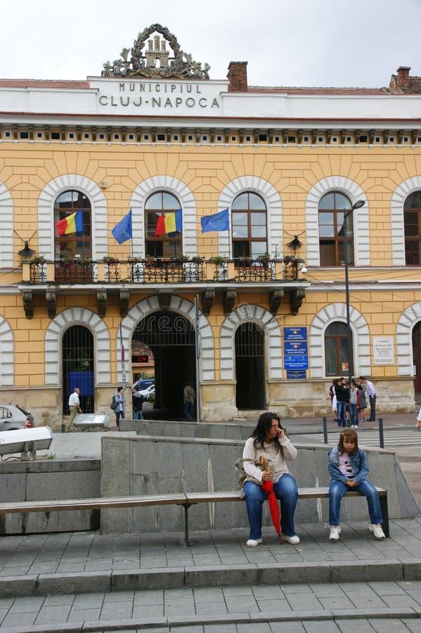 Câmara municipal cluj-Napoca imagem de stock royalty free