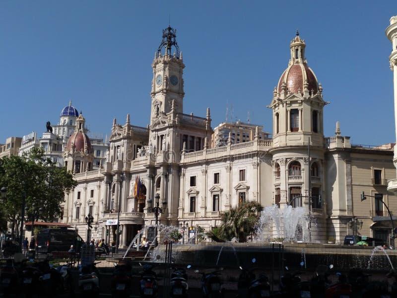 Câmara municipal da cidade de Valência fotos de stock royalty free