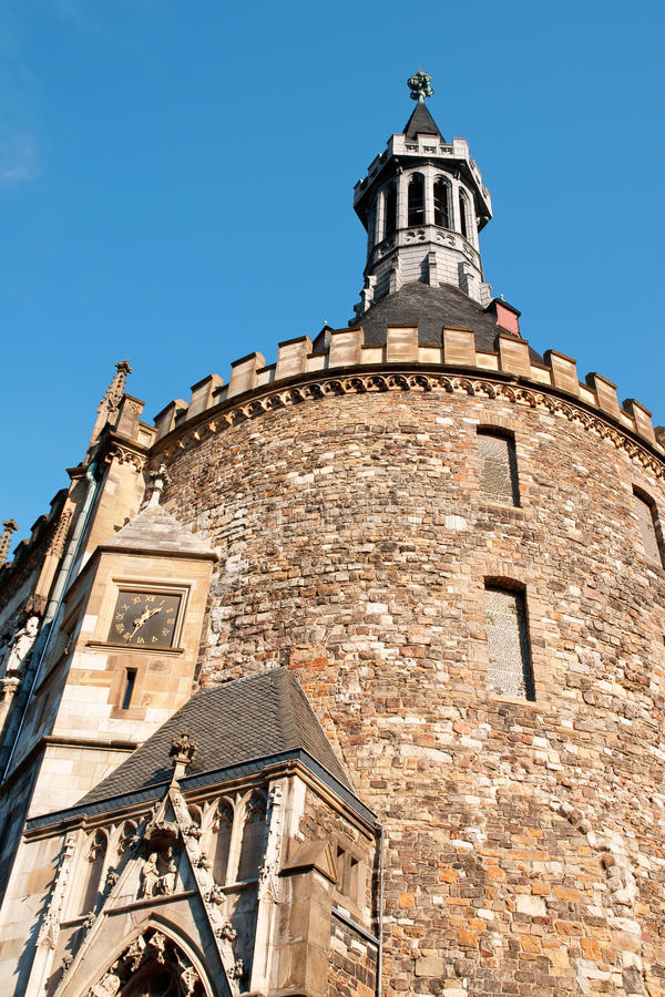 Câmara municipal de Aix-la-Chapelle fotos de stock royalty free