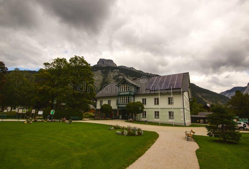 Câmara municipal de Altaussee, Áustria foto de stock