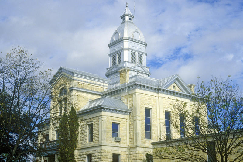 Câmara municipal de Bandera e tribunal, Bandera, TX fotografia de stock royalty free