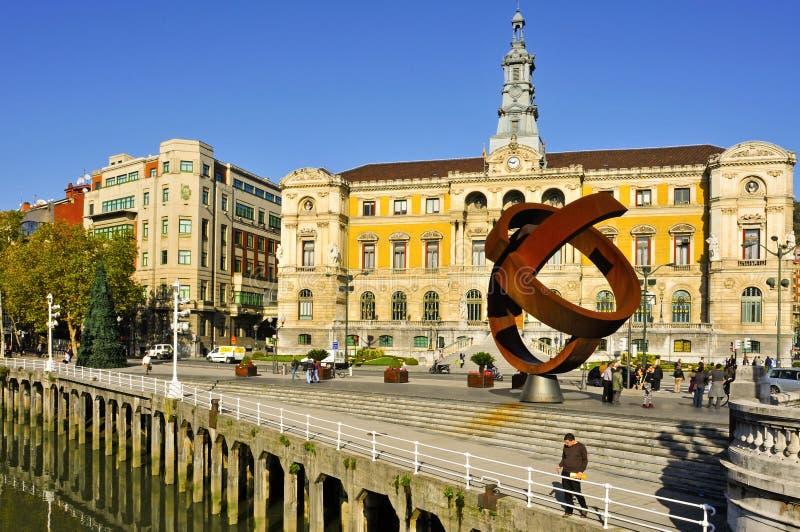 Câmara municipal de Bilbao, Spain foto de stock