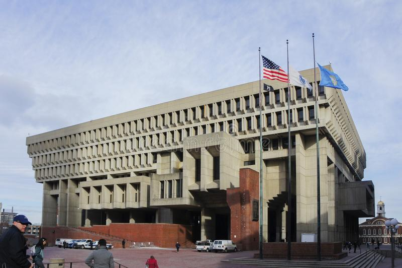 A câmara municipal de Boston fotografia de stock