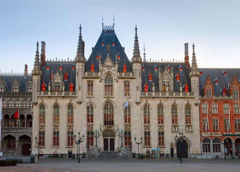 Câmara municipal de Bruges imagem de stock