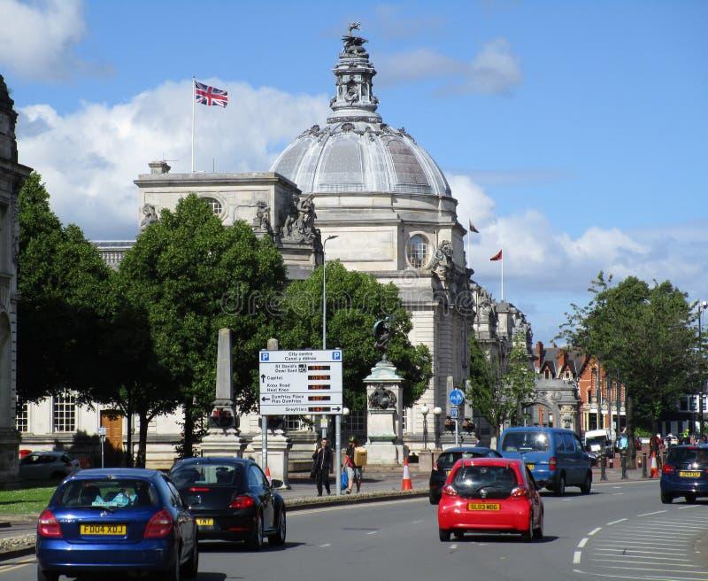 Câmara municipal de Cardiff imagem de stock royalty free