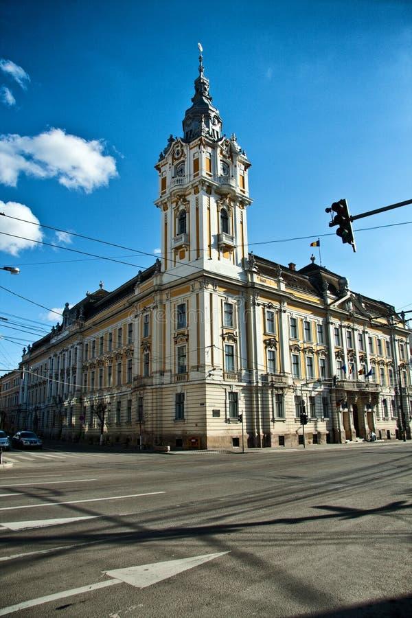 Câmara municipal de Cluj Napoca fotografia de stock