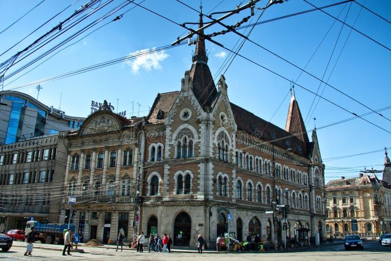 Câmara municipal de Cluj Napoca fotografia de stock royalty free