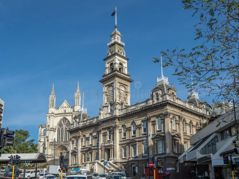 Câmara municipal de Dunedin - herança escocesa imagem de stock