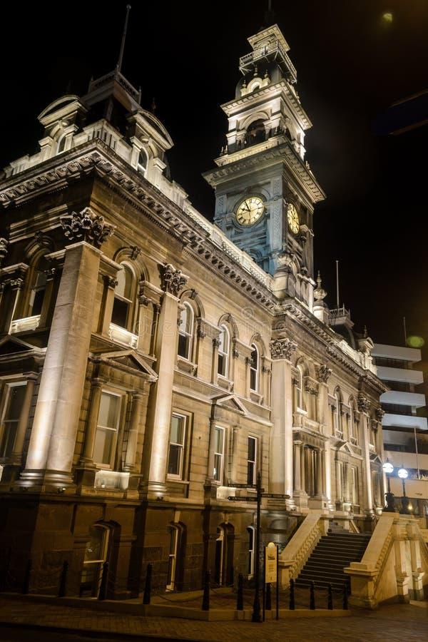 Câmara municipal de Dunedin, Nova Zelândia foto de stock royalty free