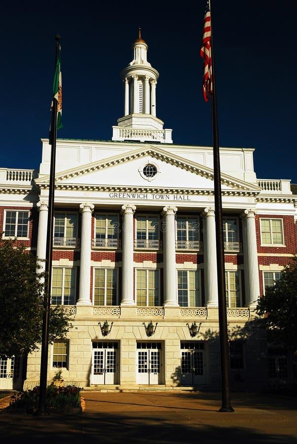 Câmara municipal de Greenwich foto de stock
