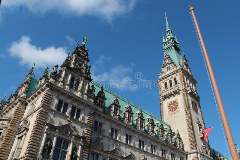 Câmara municipal de Hamburgo fotos de stock royalty free
