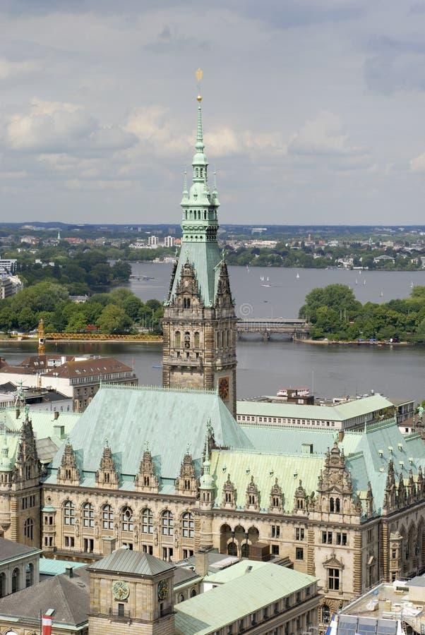 Câmara municipal de Hamburgo imagens de stock