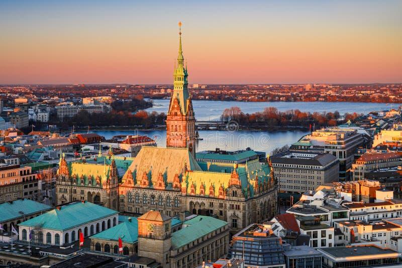 Câmara Municipal de Hamburgo, Alemanha fotos de stock royalty free