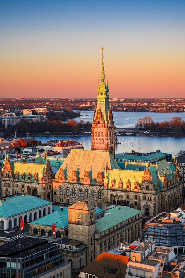 Câmara Municipal de Hamburgo, Alemanha imagem de stock royalty free