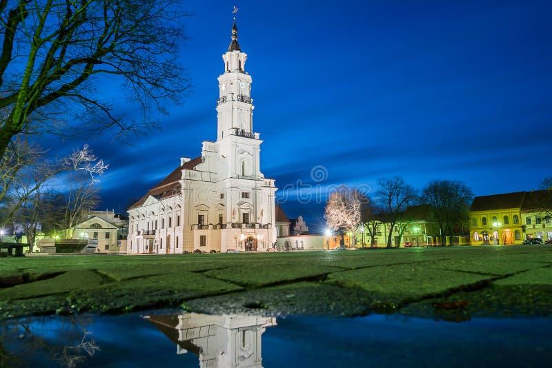 Câmara municipal de Kaunas, Lituânia imagens de stock