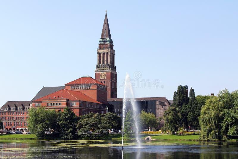 Câmara municipal de Kiel imagem de stock