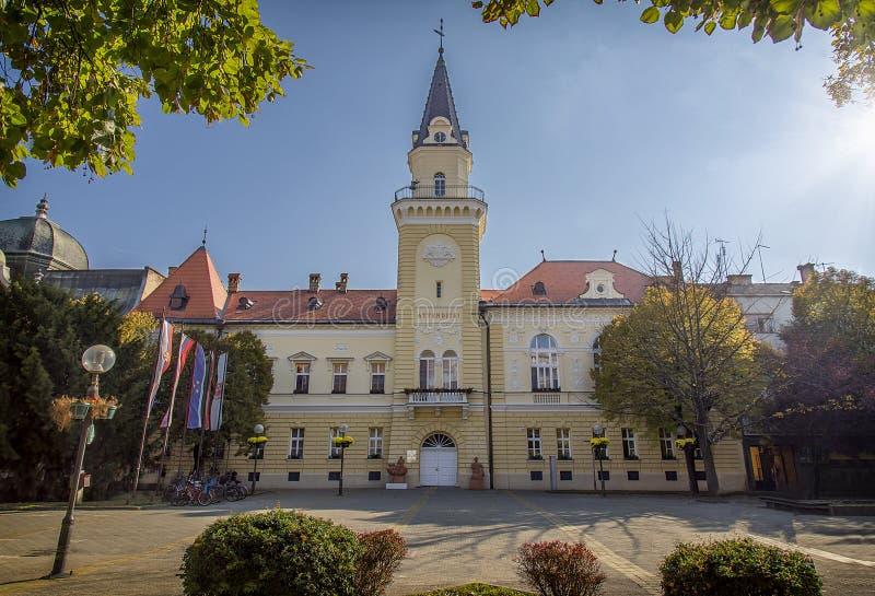 Câmara municipal de Kikinda imagem de stock royalty free