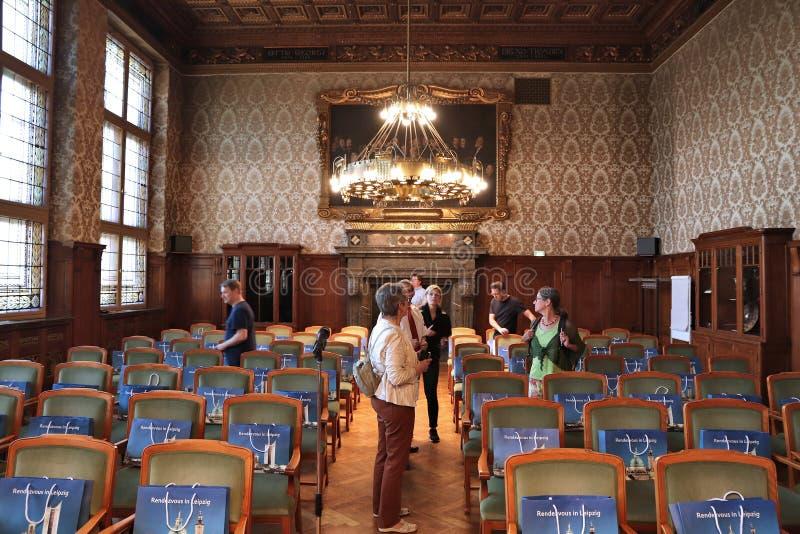 Câmara municipal de Leipzig fotos de stock
