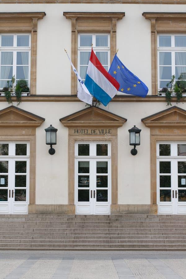 Câmara municipal de Luxembourg foto de stock