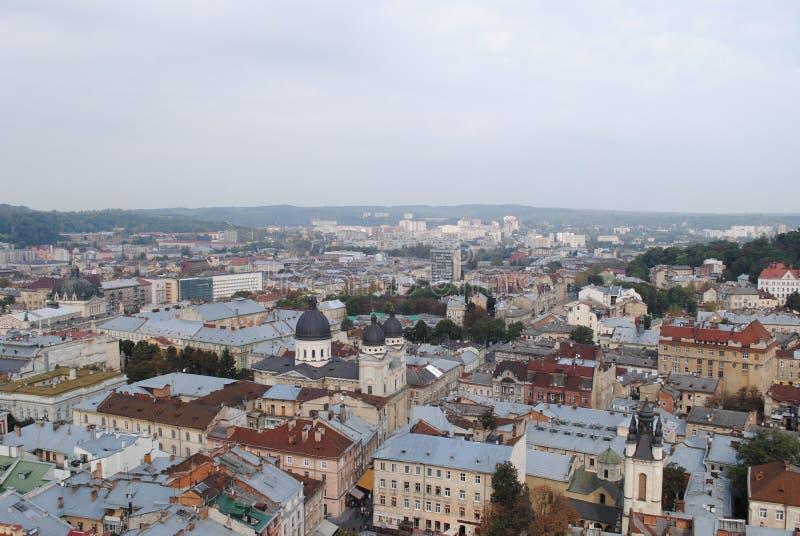 Câmara municipal de Lviv fotografia de stock