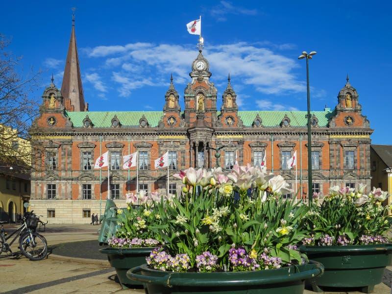 Câmara municipal de Malmo, cidade de Malmo, Suécia imagem de stock royalty free