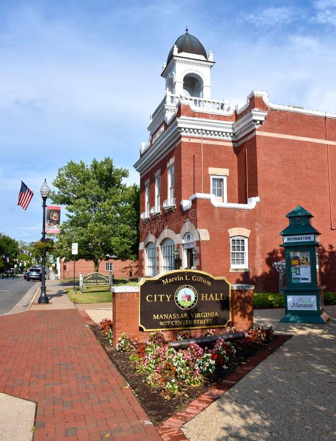 Câmara municipal de Manassas em Manassas, Virgínia foto de stock
