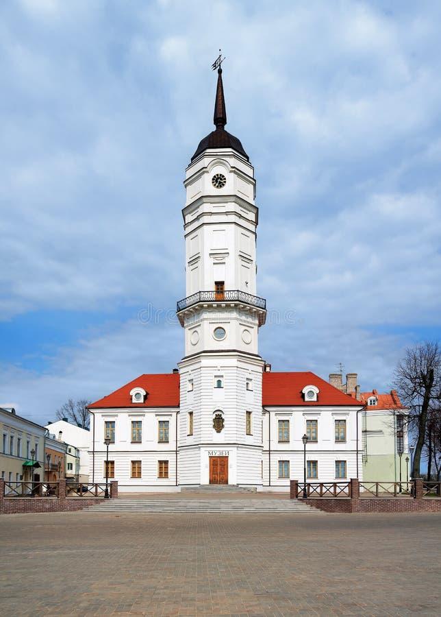 Câmara municipal de Mogilev, Belarus fotografia de stock royalty free