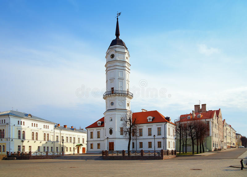 Câmara municipal de Mogilev, Belarus fotos de stock