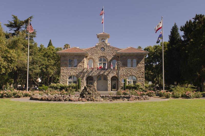 Câmara municipal de pedra histórica de Sonoma imagens de stock royalty free
