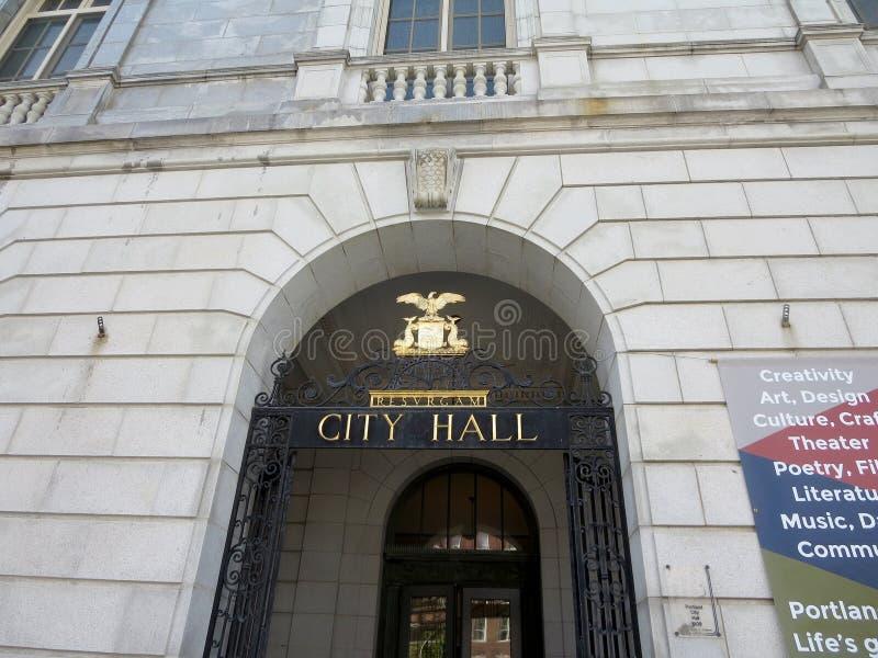 Câmara municipal de Portland fotografia de stock
