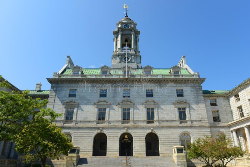 Câmara municipal de Portland, Maine, EUA foto de stock royalty free