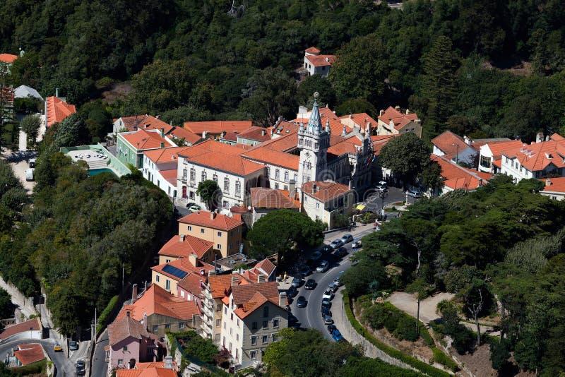 Câmara municipal de Sintra, Portugal foto de stock