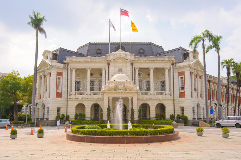 Câmara municipal de taichung, Taiwan imagem de stock