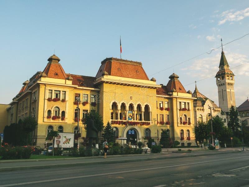 Câmara municipal de Targu Mures imagens de stock royalty free