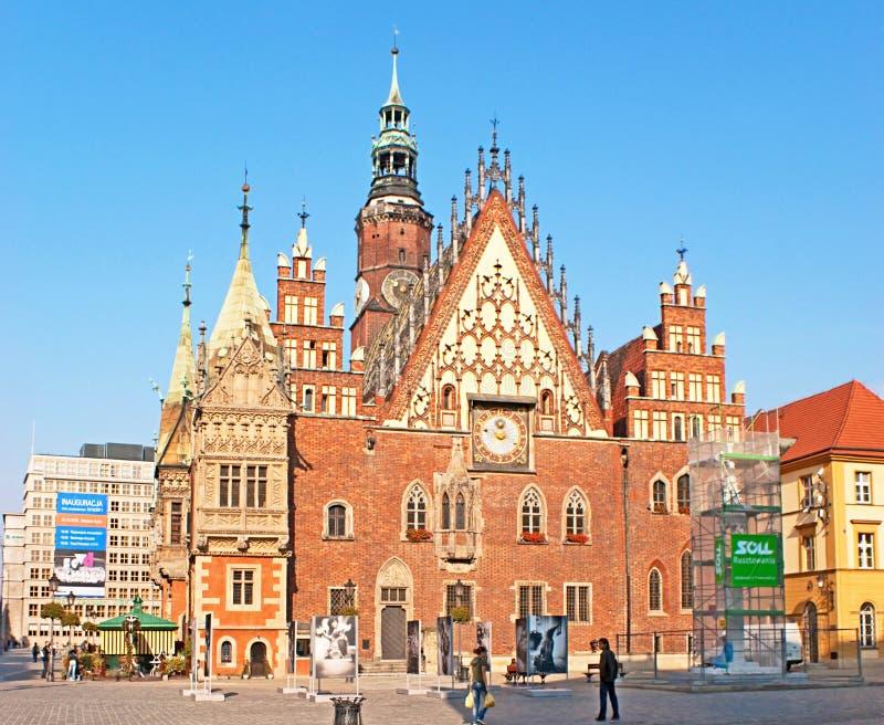 Câmara municipal de Wroclaw imagem de stock