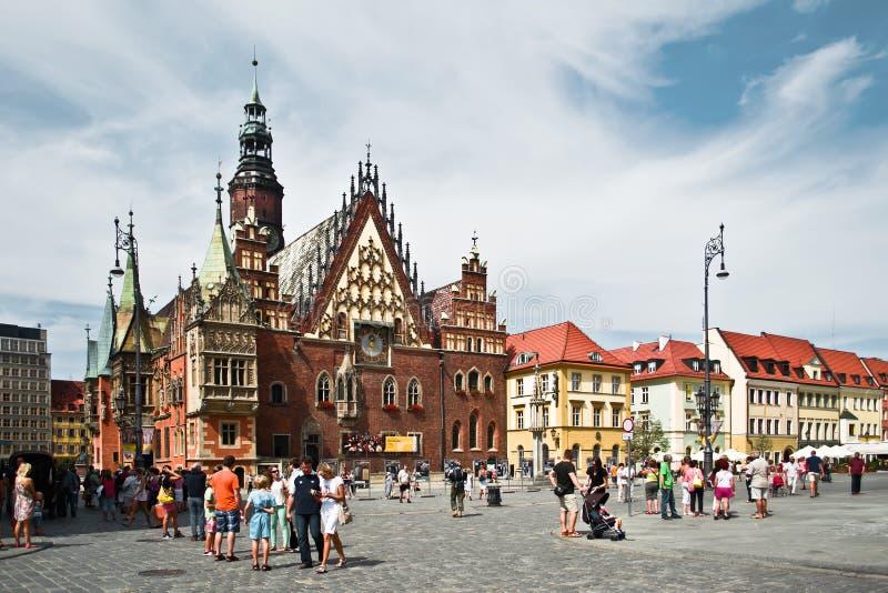 Câmara municipal de Wroclaw imagens de stock