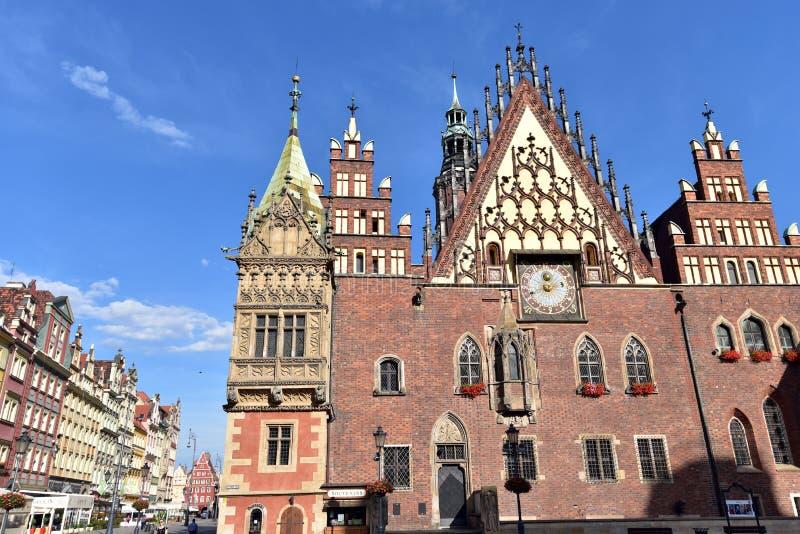 Câmara municipal de Wroclaw imagem de stock royalty free
