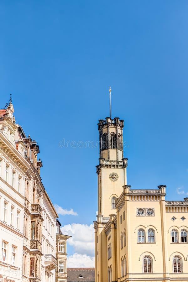 Câmara municipal de Zittau imagens de stock
