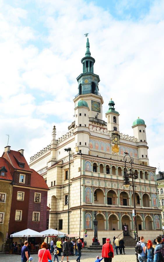 """Câmara municipal do """"de PoznaÅ imagem de stock"""